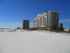 East side beach at Regency Isle condo in Orange Beach Alabama